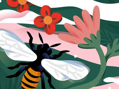 Love & Relationships flowers bee love illustration