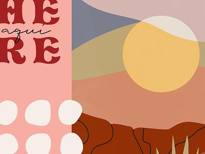 Desert Palette spanish warm landscape minimal desert color palette illustration