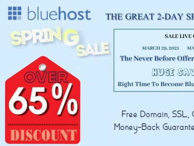 Get Over 65% Discount on Hosting + Free Domain, SSL, CDN, $200 M bluehost.com spring sale bluehost.com spring sale spring web hosting sale spring web hosting sale