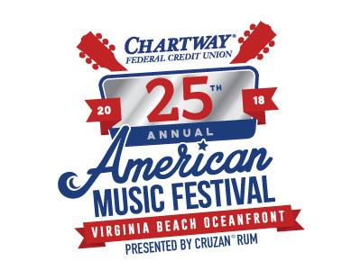 American Music Festival 25th Anniversary Logo illustration icon typography design branding logo