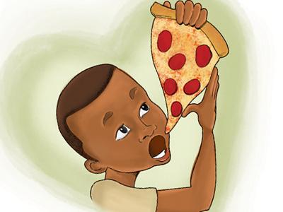 I <3 Pizza pizza illustration childrens book hand drawn