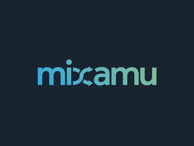 Mixamu Logo logo illustrator effra gradient dark music identity branding sans serif typography
