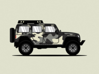 Camouflage Jeep