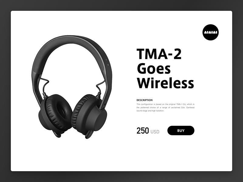 Minimal TMA-2 design less headphone minimal