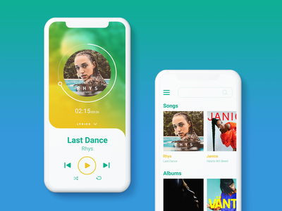 #DailyUI #009 - Music Player musicplayer mobile ui ui dailyuichallenge dailyui