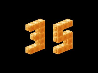 Digit 35 number digit practice 35