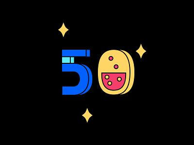 Digit 50 practice digit number 50