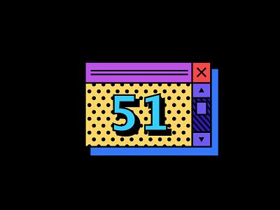 Digit 51 practice digit number 51