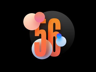 Digit 56 practice digit number 56