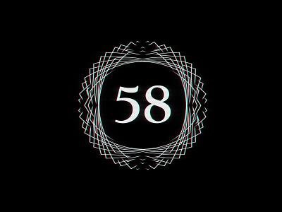 Digit 58 practice number digit 58