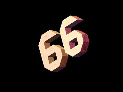 Digit 66 practice digit number 66