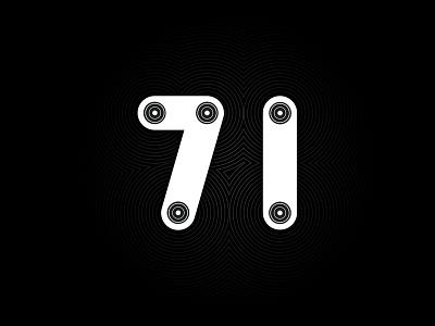 Digit 71 practice number digit 71