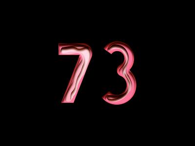 Digit 73 practice digit number 73