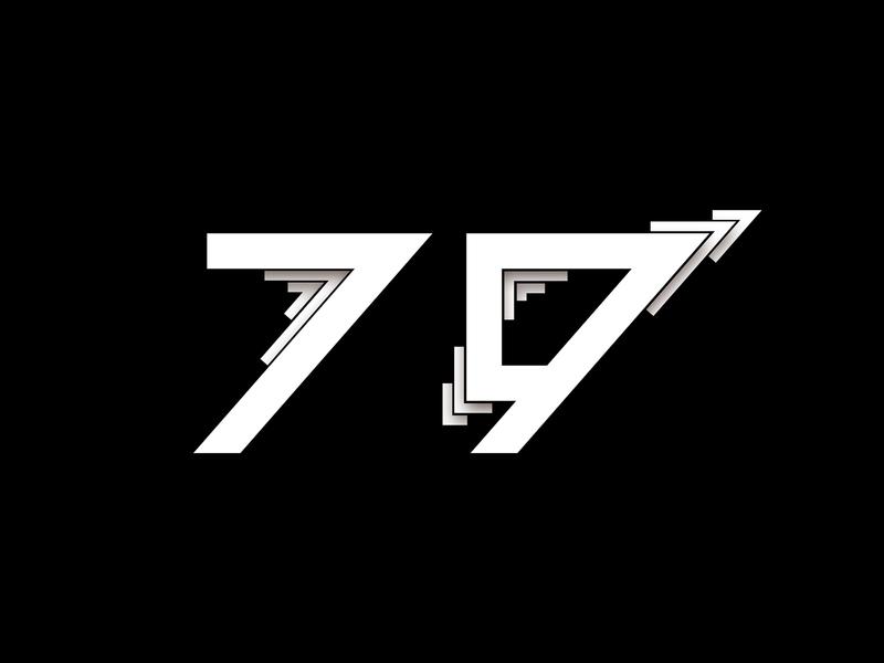 Digit 79 bw number digit 79