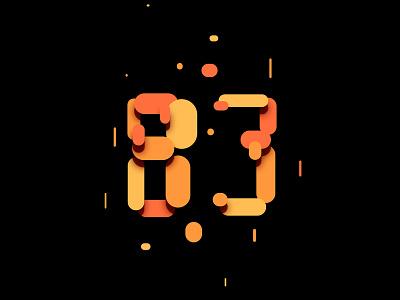 Digit 83 round practice number digit 83
