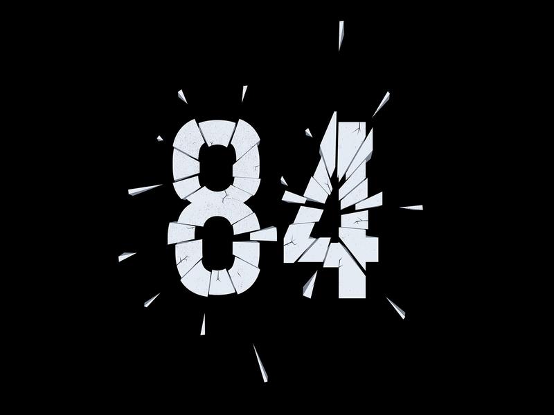 Digit 84 concrete practice number digit 84
