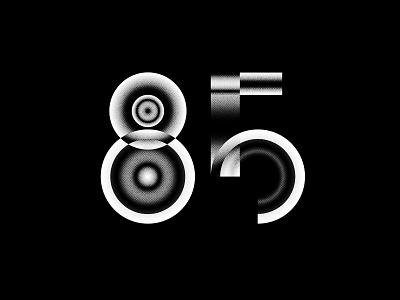 Digit 85 practice bw number digit 85
