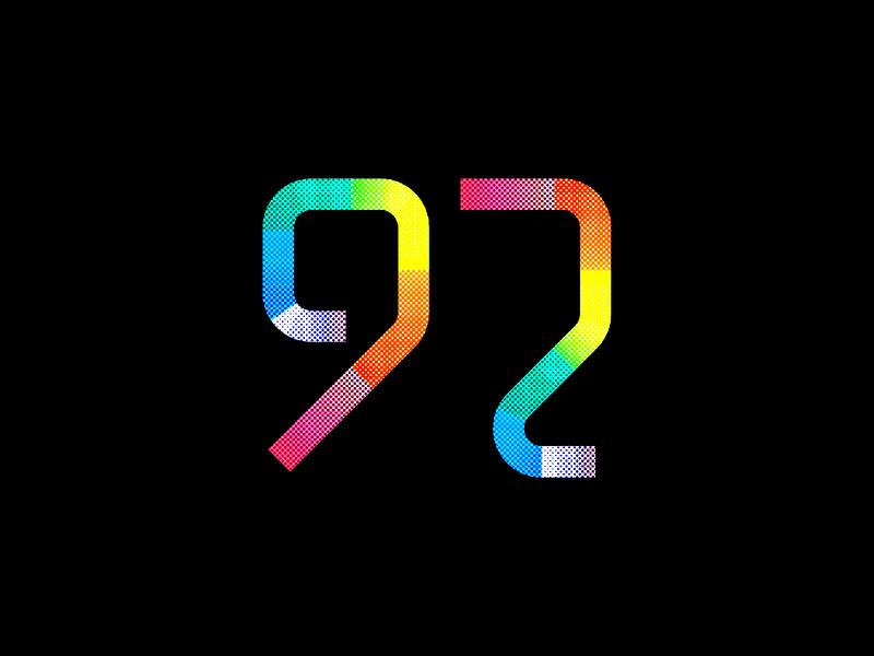 Digit 92 practice number digit 92