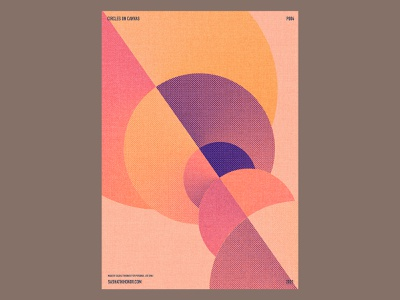 P004 poster colour gradient canvas circle illustration art practice