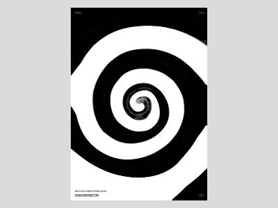 P013 bw poster twirl print illustration design practice