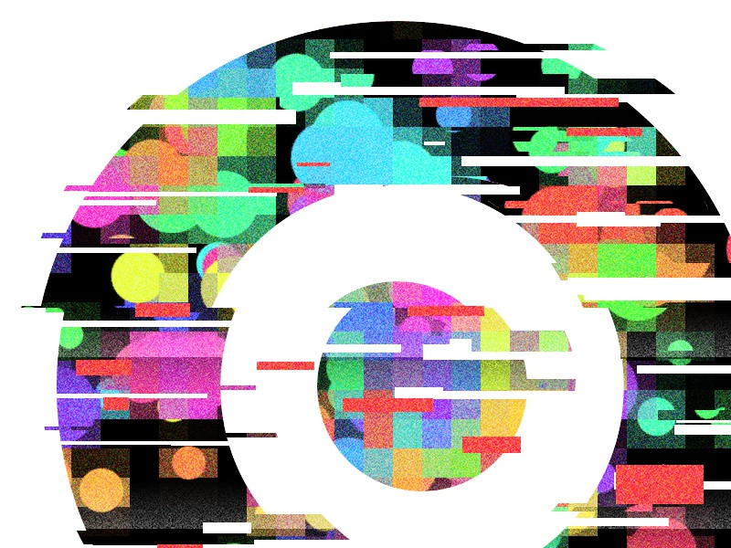 Everyday Practice No. 173 practice flat colour glitch circle flyphant