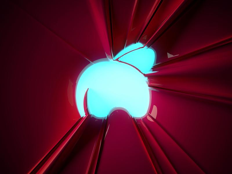 Glowing flyphant flyphant practice model modo render 3d