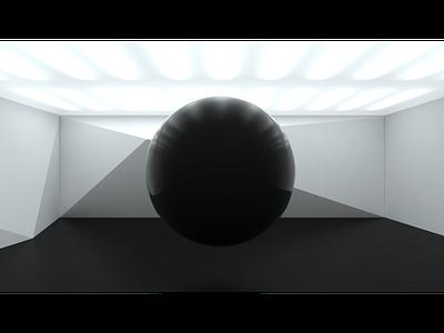 Fig. 31 Room: Still shot sphere abstract model practice render modo 3d
