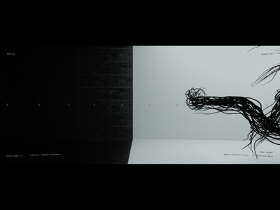 Fig. 32 Internal Noise motiongraphics fui hud aftereffects bw abstract art practice model modo render 3d