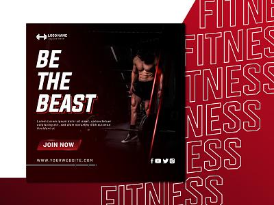 Gym & Fitness Social Media Template design unique instagram post social media template social media fitness banner gym banner gym fitness banner