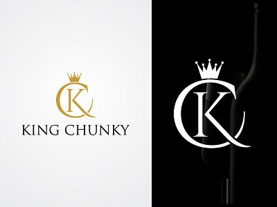 KING CHUNKY (Wine Company Logo) graphic design logo design wine logo monogram luxury creative logo unique typography