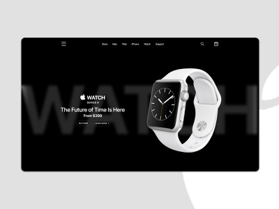 Apple Watch Landing Page flat minimal branding graphic design webpage landingpage ui