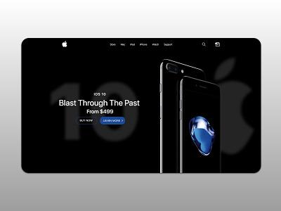 Apple iPhone Landing Page Design design simple graphic design flat minimal web page landing page ui
