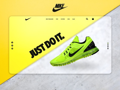 Nike Landing Page Redesign adobe xd nike branding graphic design webpage design flat design minimal landing page ui