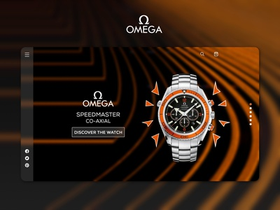 Omega Co-Axial Landing Page user profile user experience adobe xd watch webpage landing page flat design minimal graphic design ui
