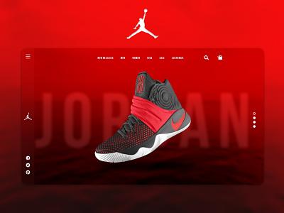 Nike Landing Page Redesign redesign nike web page user experience landing page flat design minimal branding graphic design ui