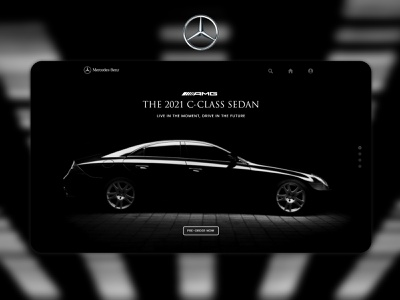 Mercedes-Benz Landing Page ui ui design ui ux interface homepage design user interface web ui landing page creative concept car business black and white background luxury advertising adobe xd abstract adobe