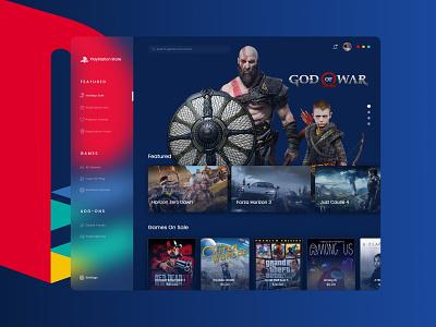 PlayStation Store User Interface Design Concept game ui games card design app design apple store windows store clean adobe xd vector uiux redesign user interface ui playstation app