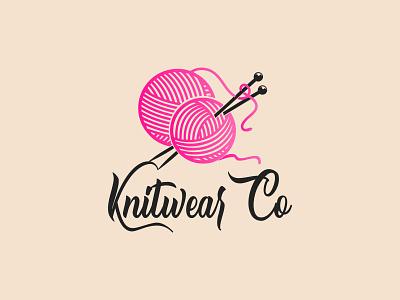 Knitwear Clothing Company Logo wear dribble logo design vector logo flat design minimal knitwear clothing