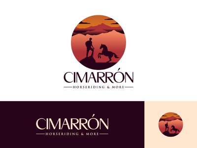 Cimarron Horse Riding Business Logo natural logo brand logo inspirations logotype logo designer branding logo design horse training vector logo design minimal creative horse riding