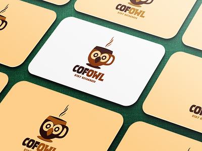 Coffee Owl Logo Template logo logotype