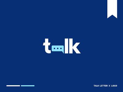 Talk Letter 'A' Logo icon logo concept logo template logotype logomark letter a branding minimalist modern lettermark chat logo adobe illustrator creative logo flat