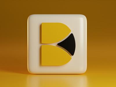 Designbox 3D Favicon Design visual identity brand identity unique minimalist blender branding creative minimal 3d logo