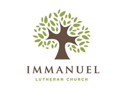 Immanuel Luthern Church logo branding identity icon illustration vector church tree green brown