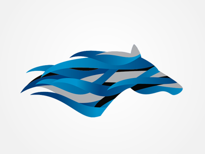 Dynasty Horse Feed branding logo identity icon illustration horse feed blue speed performance