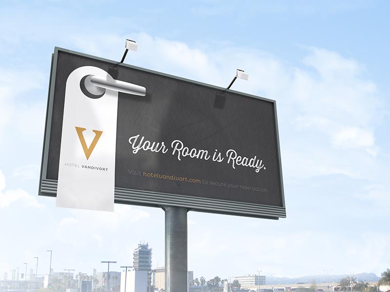 Hotel Vandivort // billboard hotel vandivort billboard hook creative