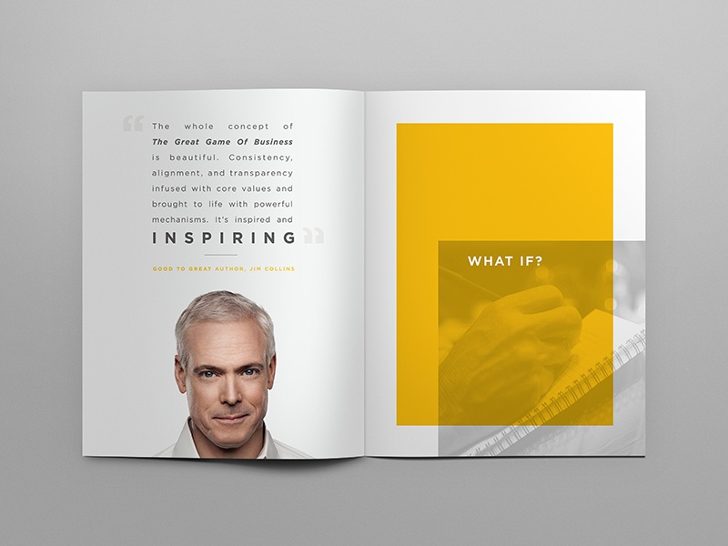 Great Game of Business   OBM Playbook open book management jim collins brochure great game of business hook creative
