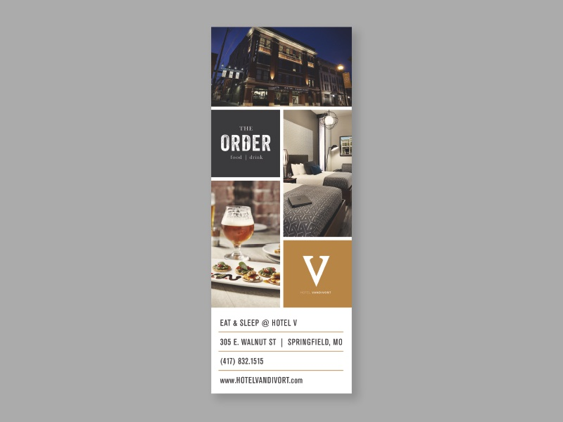 Hotel V magazine ad typography type fonts the order restaurant boutique hotel magazine ad hotel vandivort
