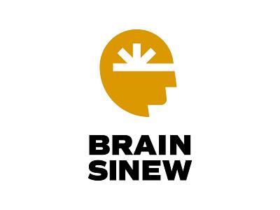 Brain Sinew kansas wichita wiens symbol mark process casestudy yellow logotype logo head brain