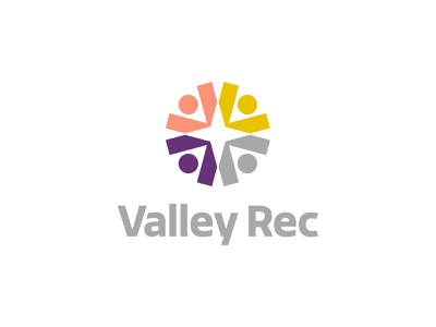 Valley Rec sinew brain brian wiens recreation logodesign type guidance direction health fitness community people logo