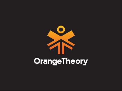 Orange Theory Rebrand sinew brain wiens brian theory up orange arrow health vitruvian man logo strategy brand fitness